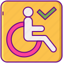 accessibility, disabled, handicap, wheelchair icon
