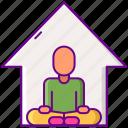 health, meditation, studio, yoga icon