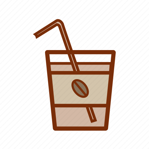beverage, coffee, cold, drink, iced, latte, summer icon