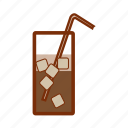 beverage, cocktails, coffee, cold, drink, mazagran, summer icon