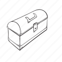 box, construction, lunch, tool icon