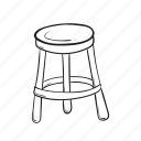 chair, furniture, round, seat icon