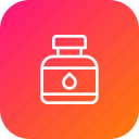 bottle, crafting, ink, liquid, sign, stationary icon