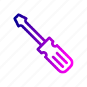 crafting, driver, fitting, repair, screw, tool icon
