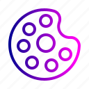 brush, color, drawing, paint, palette, tool icon