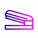 attach, clip, fastnen, paper, pin, stapler, stationary icon