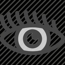 eye, female, lashes, pupil, vision, woman icon