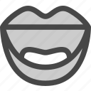 emotion, expression, face, lips, mouth, smile icon