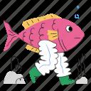 fish, walk, aquarium, animal, wildlife, legs, underwater, sea, ocean icon