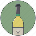 alcohol, bottle, bottle wine, drink, white wine, wine, wine bottle icon