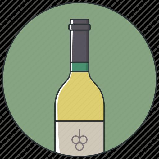 alcohol, bottle, bottle wine, drink, white wine, wine, wine bottle icon