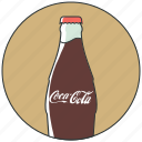 bottle coca, coca, cola drink, drinks, soda icon