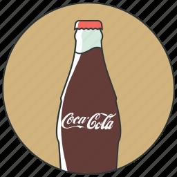 bottle coca, coca, cola drink, drinks, soda icon