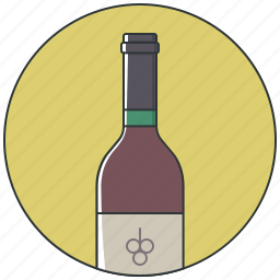 alcohol, bottle, bottle wine, drink, red wine, wine, wine bottle icon