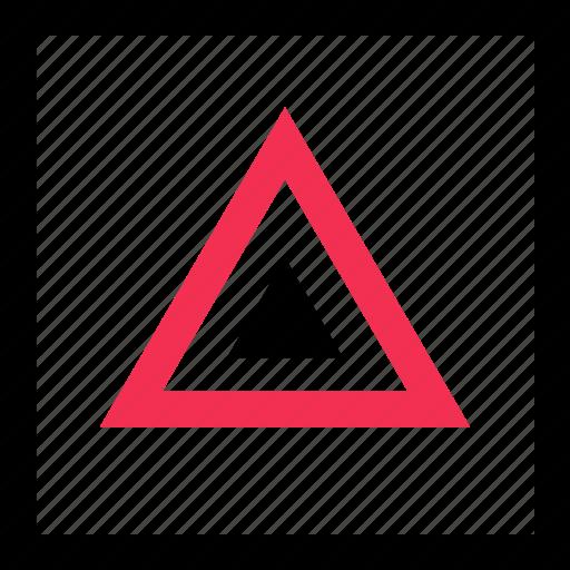 design, graphic, triangle, up icon