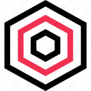 design, hex, hexagon icon