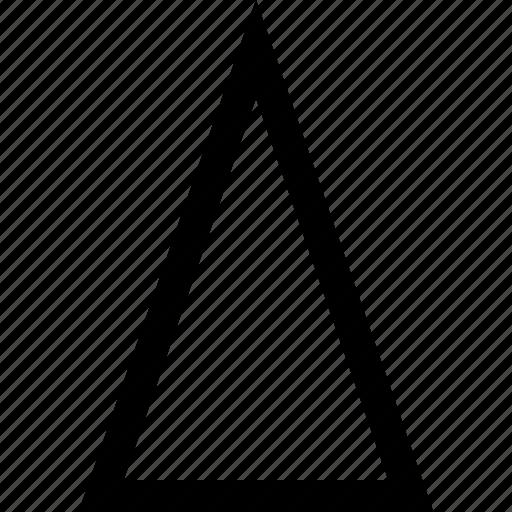 sharp, triangle, up icon