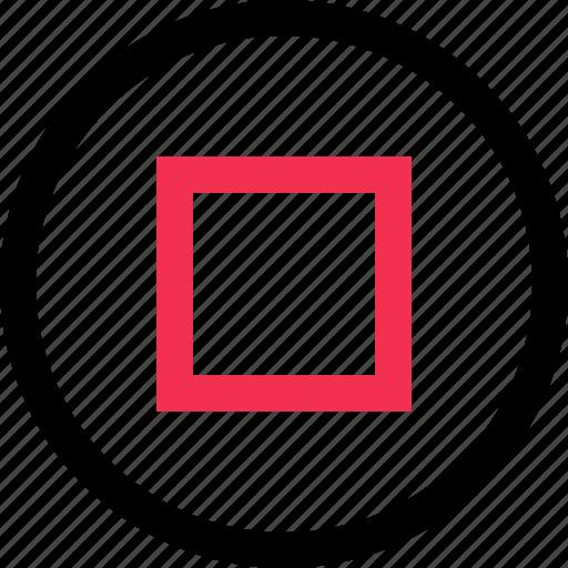 design, interface, stop, user icon