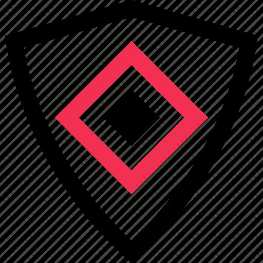 cube, protect, shield, triangle icon