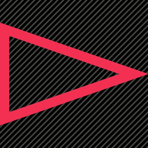 right, sharp, triangle icon