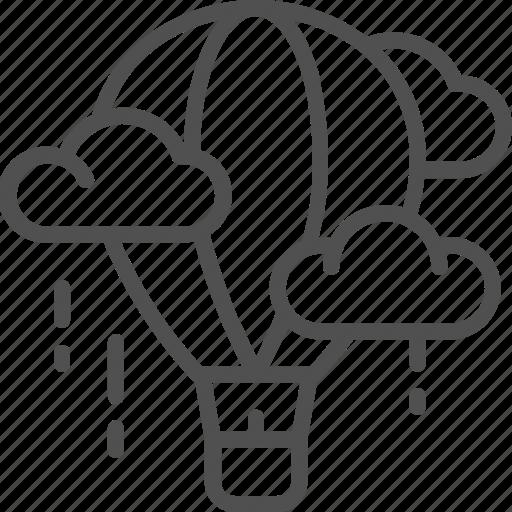 aerostat, air, balloon, business, creativity, dirigible icon