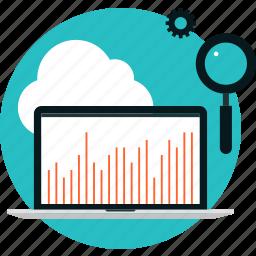 analysis, analytics, chart, computer, data, internet, optimization, research, search, seo, traffic, web icon