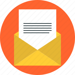 document, e-mail, email, inbox, letter, mail, message, newsletter icon