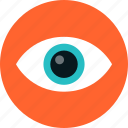 eye, eyeball, eyesight, looking, see, sight, spy, surveillance, vision icon