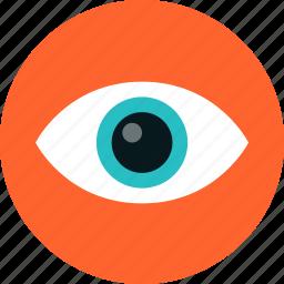eye, eyeball, eyesight, looking, see, sight, spy, surveillance, vision icon