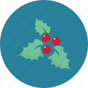 christmas, mistletoe icon icon