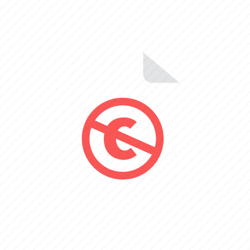 copyright, file icon