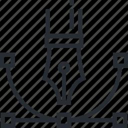 app, design, graphic, illustration, line, thin, tool icon