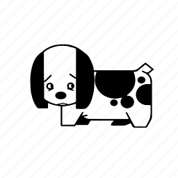 cute, dog, friend, kennel, pet, pup, puppy icon