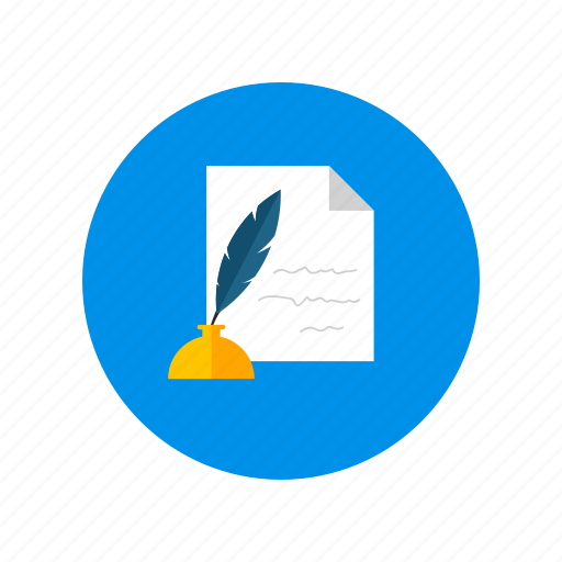 feather, letter, writing icon