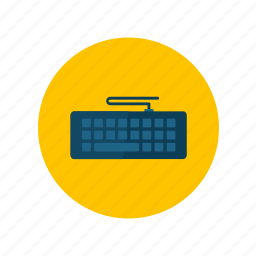 connection, device, keyboard, technology icon