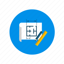 geometry, measure, project, secure icon