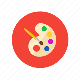 art, brush, color, drawing, painting, palette icon