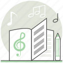 compose, compose a song, concept, creative, design, process, song icon