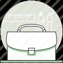 briefcase, concept, creative, design, portfolio, process icon