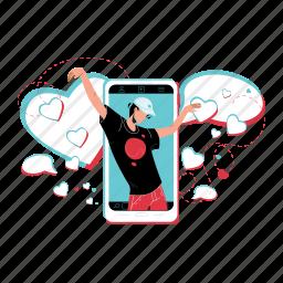 crazydance, crazy, dance, dancing, man, phone, screen