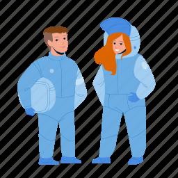 astronaut, children, couple, space, suit, boy, girl
