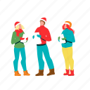 carol, christmas, human, singing, celebrative, young, man