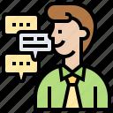 communication, conversation, listen, reply, responds