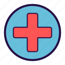 clinic, emergency, healthcare, hospital, medical, medical unit, pharmacy icon