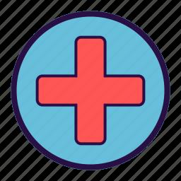 clinic, emergency, healthcare, hospital, medical, medical unit, pharmacy icon