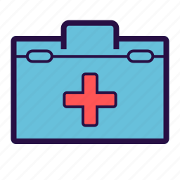 first aid box, health care, medical, medical bag, medical box icon