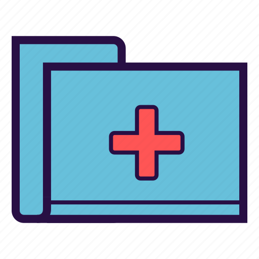 file, health report, medical file, medical history, report icon