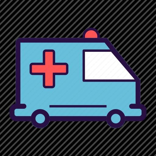 ambulance, emergency, emergency van, medical, medical rescue, medical transport, rescue van icon