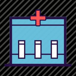 health care, medical, medical box, medical kit, test box icon