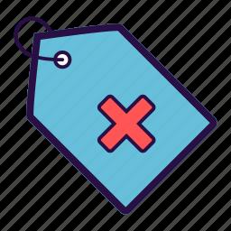 medical, medical tag, medicine, note, tag icon